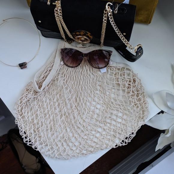 Handbags - Cotton French Shopping Bag
